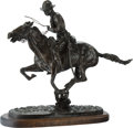Fine Art - Sculpture, American, American School (20th Century). Trooper of the Plains.Bronze with brown patina. 20-3/4 inches (52.7 cm) high on a1-1/2...