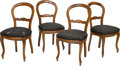 Furniture : French, Four Louis Philippe Walnut Side Chairs, circa 1845. 36-1/2 h x17-3/4 w x 19 d inches (92.7 x 45.1 x 48.3 cm). PROPERTY FR...(Total: 4 Items)