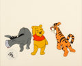 Animation Art:Production Cel, Winnie the Pooh and A Day for Eeyore Winnie, Tigger, andEeyore Production Cel Setup (Walt Disney, 1983). ...