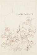 Animation Art:Production Drawing, Good Scouts Theatrical Poster Preliminary Art (Walt Disney/RKO, 1938). ...