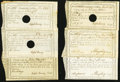 Colonial Notes:Connecticut, CT- Group of Six Connecticut Comptroller's-Office Certificates1789-92 Very Fine or better.. ... (Total: 6 notes)