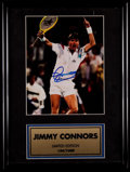 Autographs:Others, Jimmy Connors Signed Photo Display - Limited Edition to 1000. ...