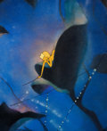 Animation Art:Production Cel, Fantasia Dewdrop Fairy Production Cel and Master Background Courvoisier Setup (Walt Disney, 1940). ...