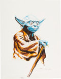 Animation Art:Production Drawing, Star Wars Yoda Illustration by Bruce Timm (1980). ...