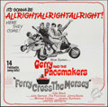 "Movie Posters:Rock and Roll, Ferry Cross the Mersey (United Artists, 1965). Six Sheet (79"" X80""). Rock and Roll.. ..."