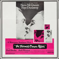 "Movie Posters:Crime, The Thomas Crown Affair (United Artists, 1968). Flat Folded Six Sheet (79"" X 80""). Crime.. ..."