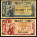 Military Payment Certificates:Series 692, Series 692 Replacements 5¢; 25¢ Very Good or Better.. ... (Total: 2 notes)