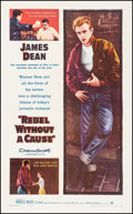 "Movie Posters:Drama, Rebel without a Cause (Warner Brothers, 1955). Trimmed One Sheet(24.5"" X 39.25""). Drama.. ..."