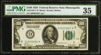 Fr. 2150-I* $100 1928 Federal Reserve Note. PMG Choice Very Fine 35