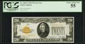 Small Size:Gold Certificates, Fr. 2402* $20 1928 Gold Certificate. PCGS Choice About New 55.. ...