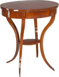 Furniture : Continental, A Biedermeier Single-Drawer Klismos Table . 28-1/2 h x 25-5/8 w x19 d inches (72.4 x 65.1 x 48.3 cm). PROPERTY FROM THE R...