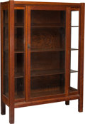 Furniture , An Arts & Crafts Oak Glazed Cabinet. 56 h x 40-1/8 w x 15-1/2 d inches (142.2 x 101.9 x 39.4 cm). PROPERTY FROM A CALIFORN...