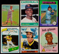 Baseball Cards:Lots, 1933-1980 Baseball Hall of Famers Card Collection (6) - 1933 GoudeyDean, Gibson RC, '64T Gibson, Brett RC, Henderson RC, & Sm...