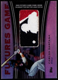 Baseball Cards:Singles (1970-Now), 2010 Topps Carlos Santana Futures Game MLB Logo Shield Patch Card -Numbered 1 of 1. ...