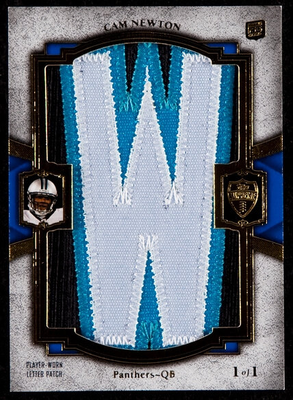 2011 Topps Supreme Cam Newton Rookie Nameplate W Patch Numbered