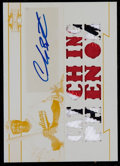 Baseball Cards:Singles (1970-Now), 2011 Topps Triple Threads Carlos Santana Printing Plate PatchAutograph - Numbered 1 of 1. ...
