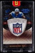 Football Cards:Singles (1970-Now), 2010 Panini Plates & Patches Ndamukong Suh Rookie Logo ShieldPatch - Numbered 1 of 1. ...