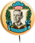 Political:Pinback Buttons (1896-present), Woodrow Wilson: Highly Colorful Picture Pin....