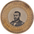 Political:Ferrotypes / Photo Badges (pre-1896), Ulysses S. Grant: Perpetual Calendar Ferrotype Medallion....