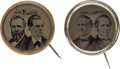 Political:Ferrotypes / Photo Badges (pre-1896), Hayes & Wheeler and Tilden & Hendricks: Matched Pair ofFerrotype Jugates.... (Total: 2 Items)