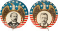 Political:Pinback Buttons (1896-present), Theodore Roosevelt and Alton B. Parker: Eagle Picture Pins.... (Total: 2 Items)