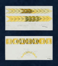Estate Jewelry:Other, Cartier Original Sketches, French, circa 1934. ...