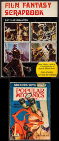 Movie Posters:Fantasy, Film Fantasy Scrapbook by Ray Harryhausen & Other Lot (The Tantivy Press, 1974). Autographed Hardcover Book (142 Pages, 9.25... (Total: 2 Items)
