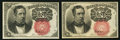 Fractional Currency:Fifth Issue, Fr. 1266 10¢ Fifth Issue Two Examples Choice New; About New.. ...(Total: 2 notes)