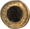 Political:Ferrotypes / Photo Badges (pre-1896), Abraham Lincoln: Back-to-Back Ferrotype....