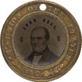 Political:Ferrotypes / Photo Badges (pre-1896), John Bell: Back-to-Back Ferrotype....