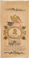 Political:Memorial (1800-present), Zachary Taylor: Multicolored Embossed Mourning Ribbon....
