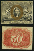 Fractional Currency:Second Issue, Fr. 1314SP 50¢ Second Issue Narrow Margin Pair Choice About New. . ... (Total: 2 notes)