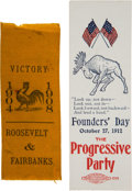 Political:Ribbons & Badges, Theodore Roosevelt: Two Campaign Ribbons....