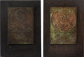 General Historic Events:Expos, Hudson-Fulton Celebration: Copper & Oak Wall Plaques by Gorham.... (Total: 2 Items)