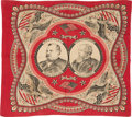 Political:Textile Display (pre-1896), Cleveland & Thurman: Graphic Jugate Bandana....