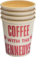 Political:Small Paper (1896-present), John F. Kennedy: Coffee with Kennedy Group of Four Cups....