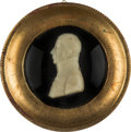 Antiques:Decorative Americana, Admiral Lord Nelson: Framed Wax Profile....
