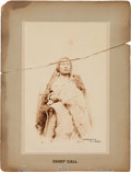Photography:Cabinet Photos, Chief Gall: A Boudoir-sized Cabinet Photo with Great PeriodInscription....