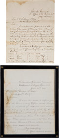 Military & Patriotic:Indian Wars, 1877 7th Cavalry Supply Orders from the Yellowstone Command. ...