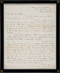 Military & Patriotic:Civil War, A Soldier's Letter Referencing General Custer. ...