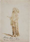 """Military & Patriotic:Indian Wars, Early Photo of """"Conne-Con-You"""" (The Man That Goes Ahead), One of Custer's Crow Scouts...."""