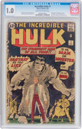 Silver Age (1956-1969):Superhero, The Incredible Hulk #1 (Marvel, 1962) CGC FR 1.0 Cream to off-whitepages....