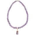 Estate Jewelry:Necklaces, Amethyst, Gold, White Metal Necklace. ...
