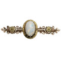 Estate Jewelry:Brooches - Pins, Victorian Opal, Gold Brooch. ...