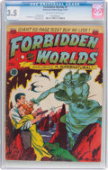 Golden Age (1938-1955):Science Fiction, Forbidden Worlds #1 (ACG, 1951) CGC VG- 3.5 Off-white to whitepages....