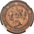 "Canada, Canada: Victoria brass ""Narrow 9"" Pattern Cent 1859 AU Details(Surface Hairlines) NGC,..."