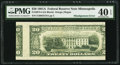 Error Notes:Skewed Reverse Printing, Misalignment Error First Print (Back) Misaligned Fr. 2074-I $201981A Federal Reserve Note. PMG Extremely Fine 40 EPQ.. ...