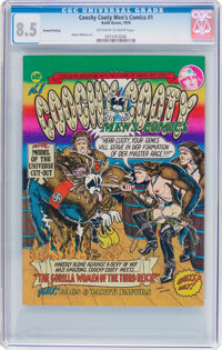 Coochy Cooty Men's Comics #1 Second Printing (Keith Green, 1970) CGC VF+ 8.5 Off-white to white pages