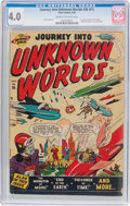 Golden Age (1938-1955):Science Fiction, Journey Into Unknown Worlds #36 (#1) (Atlas, 1950) CGC VG 4.0 Creamto off-white pages....