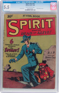 Golden Age (1938-1955):Crime, The Spirit #nn (#1) (Quality, 1944) CGC FN- 5.5 Slightly brittle pages....